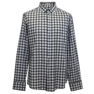 Bottega Veneta Grey Check Shirt