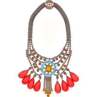 MAWI Crystal Tiered Peardrop Necklace