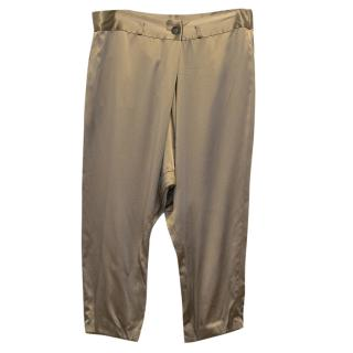 Vera Wang Brown Silk Trousers