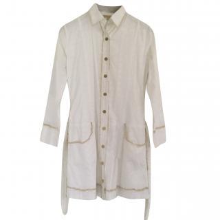 Melissa Odabash Embroidered Cotton shirt dress