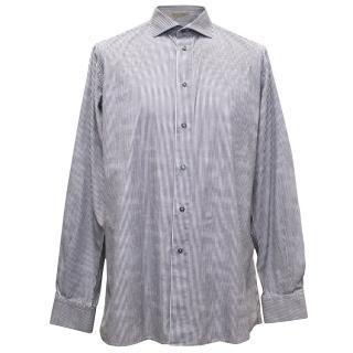 Bottega Veneta Blue Striped Shirt
