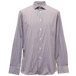 Bottega Veneta Burgundy Striped Shirt