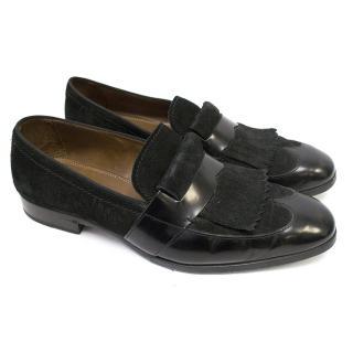 Jimmy Choo Black Moccasin Shoes