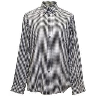 Bottega Veneta Black and White Check Shirt