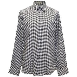 Bottega Veneta Black and White Check Shirt