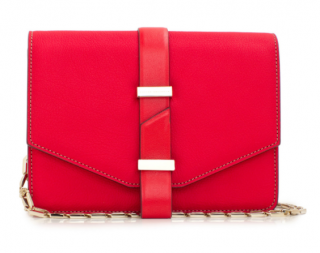 Victoria Beckham Red Bag With Hexagonal Gold Chain