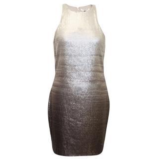 Halston Heritage Ombre Print Sequin Dress