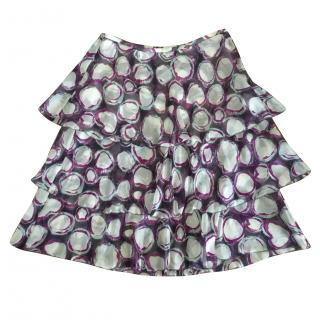 Cerruti tiered silk skirt