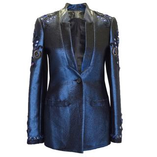 Mathew Williamson Blue Embellished Blazer