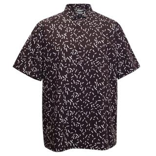 Eggplant Patterned Button Up Shirt