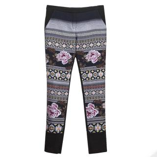 Matthew Williamson Black Trousers with Print