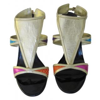Beverly Feldman multicolor sandals
