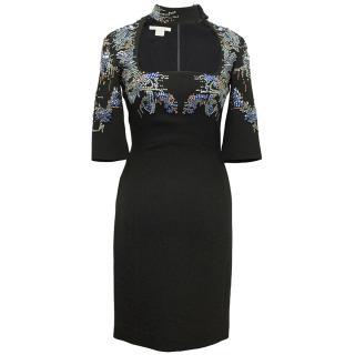 Antonio Berardi Black Dress with Embellishements