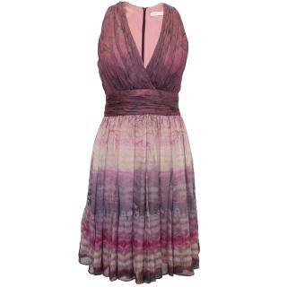 Mathew Williamson pink chiffon dress