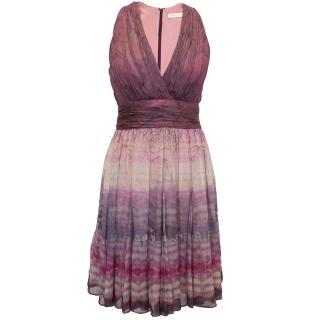 Mathew Williamson pink chiffon dress