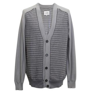Maison Martin Margiela Grey Striped Cardigan