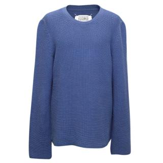 Maison Martin Margiela Blue Knit Sweater