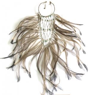 Clemmie Watson emu feather necklace