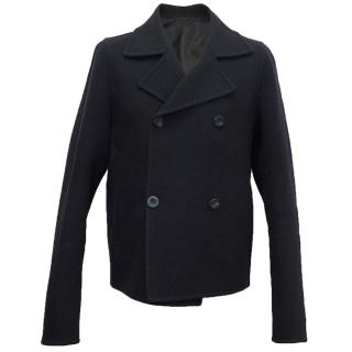 Jil Sander Navy Wool Peacoat