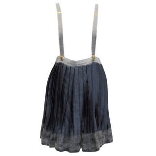 Vionnet Blue Skirt with braces