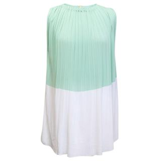 Vionnet Mint and White Top