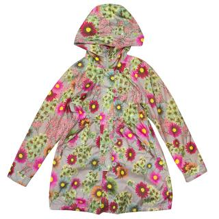 Cake Walk Girls Flower Rain Coat