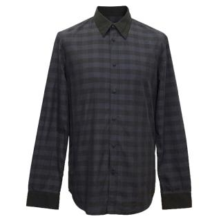 Marc Jacobs Navy and Black Chequered Shirt