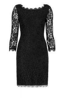 Diane Von Furstenberg Black lace  Zarita dress