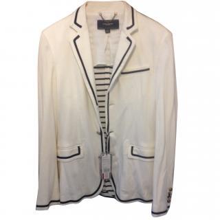 Tommy Hilfiger breton stripe arctic white blazer size 59 Binet