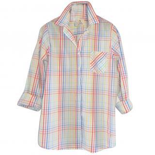 Mih artist multicolour check shirt