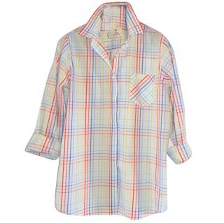 Mih artist multicolour check shirt