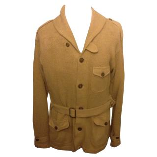 Polo Ralph Lauren golden beige marksman belted cowl neck cardigan