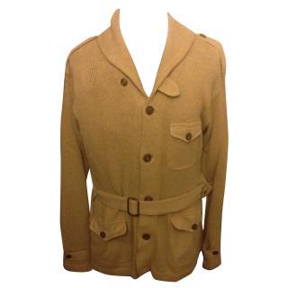 Polo Ralph Lauren golden beige marksman belted cowl neck cardigan