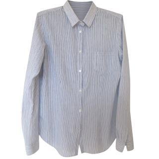 Golden Goose navy-white striped blouse