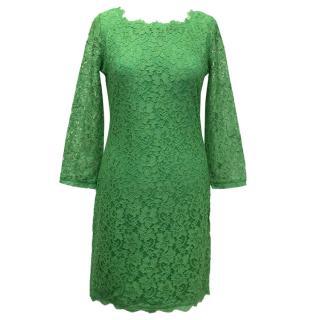 Diane von Furstenberg green Zarita dress