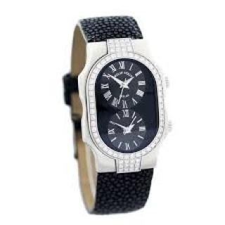Philip Stein Diamond Bezel Watch with Stringray Strap