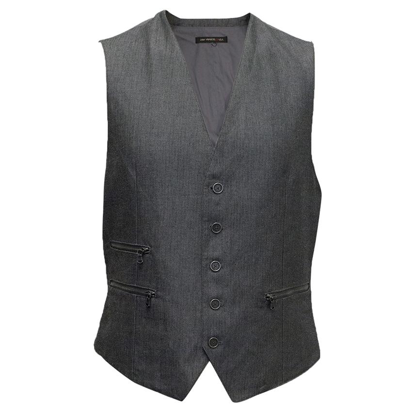 Grey Waistcoat with Zippers