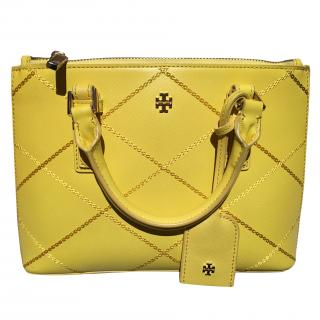 Tory Burch Robinson Stitched Micro Double Zip Tote
