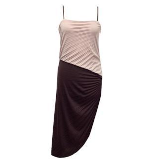 Halston Pink and Burgundy Dress