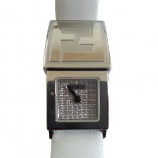 Fendi Pave Diamond Face Watch