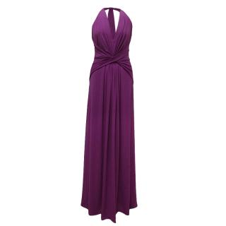 Halston Long Purple Dress