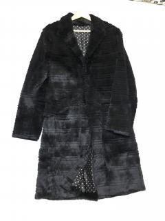 Jasper Conran 100% real rabbit fur mens coat