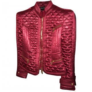 Balmain Quilted Pink Satin Jacket