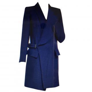 Chloe Indigo Wool-drill Coat