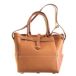 Loro Piana Hanalei tan leather tote
