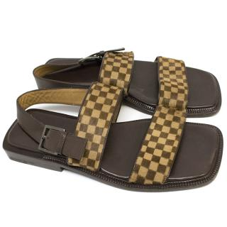 Louis Vuitton ponu fur sandals