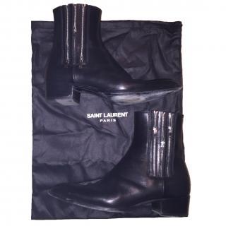 SAINT LAURENT Wyatt Ankle Boots 3 Zipper