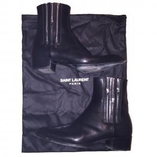 SAINT LAURENT Wyatt Ankle Boots 3 Zipper