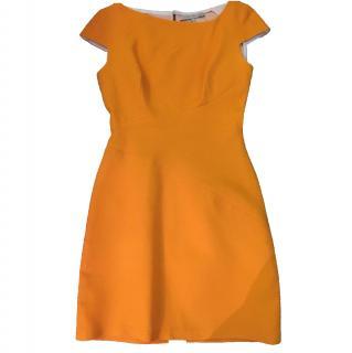 Victoria Beckham Asymmetric Cotton Crepe Dress