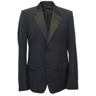 marc jacobs Navy and Black Satin Tuxedo Jacket